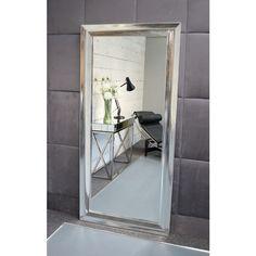 Elvia - Platinum Silver Modern Full Length Mirror x x Modern Full Length Mirrors, Modern Mirrors, Modern Frames, Wood Mirror, Beveled Mirror, Traditional Mirrors, Finishing Materials, Modern Interior, Barcelona