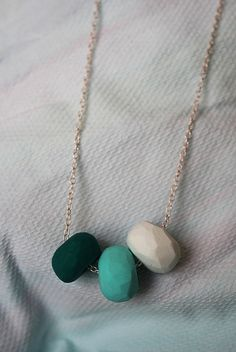 Polymer clay necklace by aimzsta, via Flickr