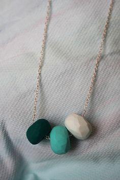 DIY Polymer clay (fimo) necklace