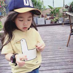 Goose Tee – Imarya kids - imarya.com Stylish Kids Fashion, Summer Outfits, Girl Outfits, Summer Trends, Summer Sale, Girls Dresses, Yellow, Tees, Swimwear