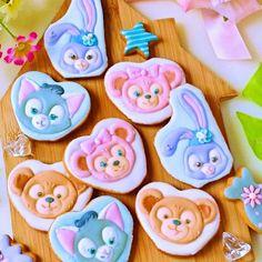 インスタで公開されてるアイシングクッキー♪ Cup Art, Duffy, Cookie Decorating, Icing, Cookies, Disney Bear, Cake, Desserts, Food
