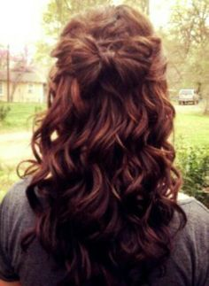 Down Curly And Waterfall Braid Prom Hair Hair And