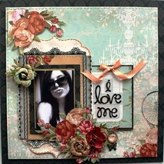 Layout of my daughter, Amanda, using the My Creative Scrapbook, Limited Edition Kit for August.