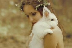 Girl and Rabbit, photographed by Katerina Plotnikova