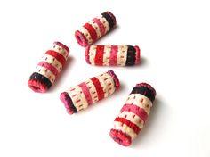 Japanese Chirimen Crepe Fabric Beads - Victoria Gertenbach - Etsy