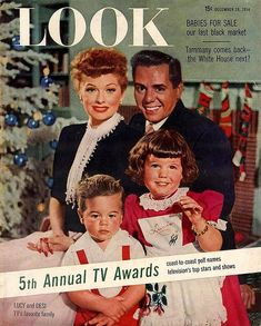 Lucy, Desi and the kids - Desi Jr. and Lucie Arnaz 1954 LOOK Magazine by Lucy_Fan, via Flickr