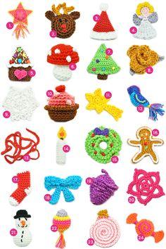 Crochet Christmas Gifts, Christmas Bird, Holiday Crochet, Christmas Stockings, Crochet Advent Calendar, Crochet Toys, Knit Crochet, Little Rose, Flower Mandala