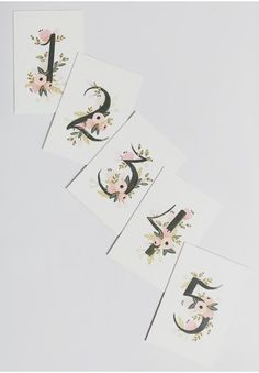 Botanical Table Card Set (1-5) By Rifle Paper Co.