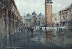 Eugeniu Gorean ART watercolor.wet venice