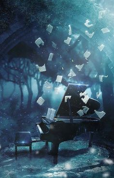 """""""""""The music is not in the notes, but in the silence in between"""""""" Studio Background Images, Photo Background Images, Fantasy Art Landscapes, Fantasy Landscape, Fantasy Artwork, Anime Scenery Wallpaper, Galaxy Wallpaper, Music Backgrounds, Photo Backgrounds"""