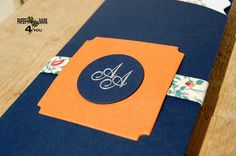Items similar to Navy Blue_Tangerine_Orange_\Whimsical_ Vintage floral rustic wedding invitation_ Flowers, leaves Card_Goldfoil Monogram Custom Design&Color. on Etsy Leaf Cards, Monograms, Vintage Floral, Rustic Wedding, Whimsical, Custom Design, Wedding Invitations, Navy Blue, Orange