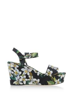 d9b2278995172a This Dolce   Gabbana Orange Blossom Wedge Sandal has the same Hawaiian  print as button down t-shirts for me would have had during this period. Men  began ...