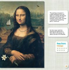 Engaging art history and appreciation spot the difference image 2 da Vinci from Dover Publications sampler