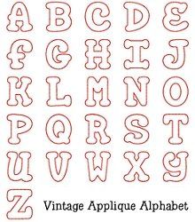 7 Best Images of Free Printable Alphabet Applique Patterns - Free Printable Alphabet Letter Patterns, Free Applique Letter Designs and Alphabet Applique Patterns Letter Templates Free, Alphabet Templates, Alphabet Stencils, Applique Templates, Applique Designs, Stencil Lettering, Hand Lettering Fonts, Lettering Styles, Alphabet A
