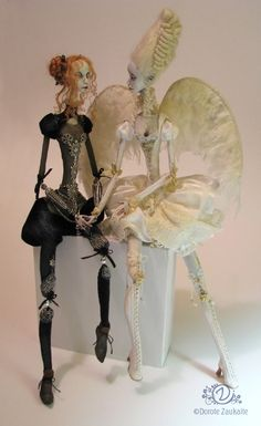 Tireless Artist OOAK Ribbon-Jointed Doll Joan Angel.  http://bjdmagazine.com/2011/03/10/the-inspirational-dolls-and-bjds-of-tireless-artist-part-2/