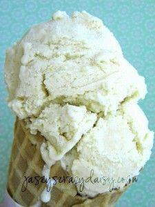 Peach cobbler gelato