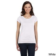 Bella Women's Carmin Vintage Short Sleeve Scoop Neck T-shirt