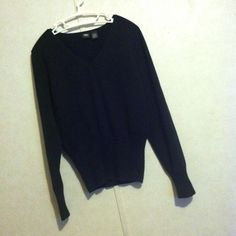 black simple sweater black simple sweater. size says XL but it's more of a large. v-neck. Mossimo Supply Co Sweaters V-Necks
