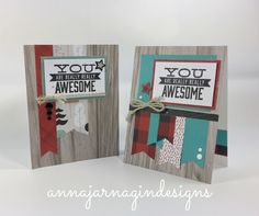 Cards crafted with Close to My Heart's Jack papers and embellishments.