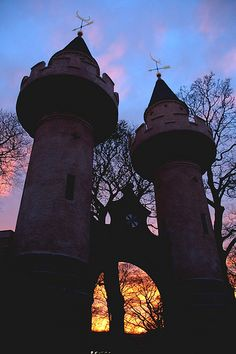 Powis Gate at sunset, Old Aberdeen  Scotland
