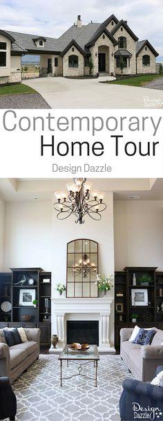 Beautiful contemporary home tour!   Design Dazzle