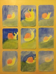 "Waldorf Watercolor Painting- 2nd & 3rd grade paint ""The Slippery Snail."""