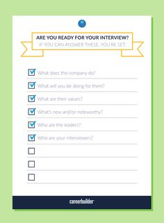 Have you thoroughly prepared for your interview?