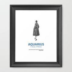 Aquarius Framed Art Print by Cansu Girgin - $40.00