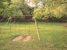 Reminds me of the old swingset at Mom and Dad's house