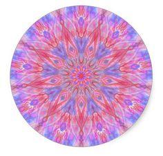 "3"" Pink Kaleidoscope Sticker by ElevatedAesthetics on Etsy etsy.com/shop/elevatedaesthetics"