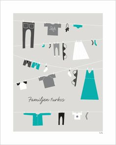 Love this poster for the utility room in teal! Thanks to Benita