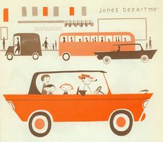 family car illustrated by robert j. lee 1957