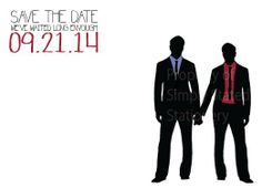 Mister and Mister Save the Date Card Shops Save the date
