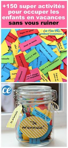 Ultimate summer activities lists and bored Jar lists Free printable. 150 fun summer activities for kids. The post Ultimate summer activities lists and bored Jar lists appeared first on Summer Diy. Kids Crafts, Summer Crafts, Cute Crafts, Projects For Kids, Diy For Kids, Kids Fun, Neon Crafts, Easy Projects, Beach Crafts