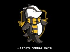 The Badger. Awesome Hufflepuff T-shirt, pinned from teeturtle.com. Comes in women's cut too! $20.