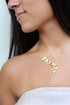 Elegent Orchids Necklace Gold or Silver by janiecox on Etsy, $32.00