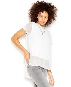 Rachel Rachel Roy Petra Top Short-Sleeve Layered-Look Top
