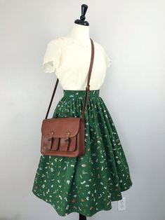 Custom Inspired Rifle Paper Co Travel Print Full Gathered Skirt – Vintage Outfits Vintage Outfits, 50s Outfits, Mode Outfits, Skirt Outfits, Vintage Dresses, Casual Outfits, Fashion Outfits, Fashion Trends, Vintage Inspired Outfits