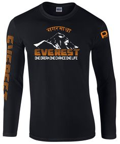 Everest Dream Nepali Long Sleeve 2015 Cotton Tee Shirt.  Click image for colour options
