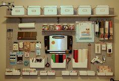 craft room pegboard | Craft Room Pegboard | Craft Studio Ideas