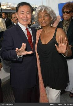 Uhura & Sulu from Star Trek.  Saw both at a Star Trek Convention in the 70s in Sacramento, CA!