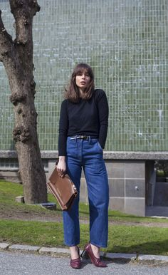 Style and Create — Loose denim & Céline flats in a perfect combination! Fashion inspiration by Irina Lakicevic, A Portable Package
