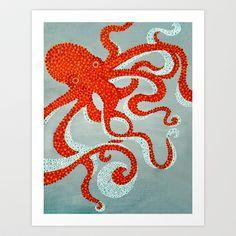 OCTOPUS+Art+Print+by+Madeleine+Thoma+-+$19.00