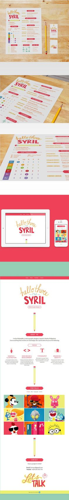 Self-Promotion by Syril Bobadilla, via Behance
