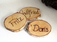 rustic wood place card holders set of 50 | place card and rustic wood, Moderne