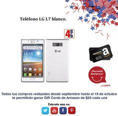 Que te parece esta gran oferta: LG L7 blanco.  http://amzn.com/B008DYS016