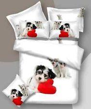 Double size little dog puppy print 3D duvet cover bedding set 100% cotton