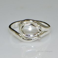 Crown Princess Bezel Cup Ring Blank 8 Mm Round