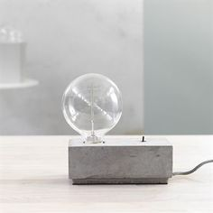 Stella table lamp concrete square - 20 cm - Pholc