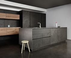 Eggersmann Concrete and Vintage Oak Kitchen